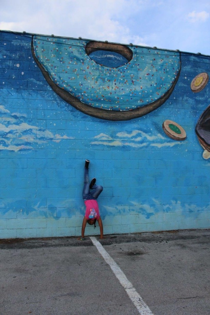 Donuts Mural with Imani!