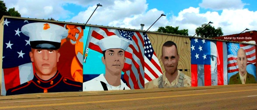 Noogastrong:  Fallen Five Mural & Memorial